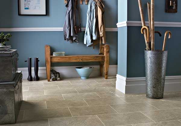 Karndean Knight Tile Portland Stone Flooring