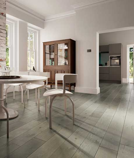 Kersaint Cobb Duo Living Wood Flooring in Mole Grey