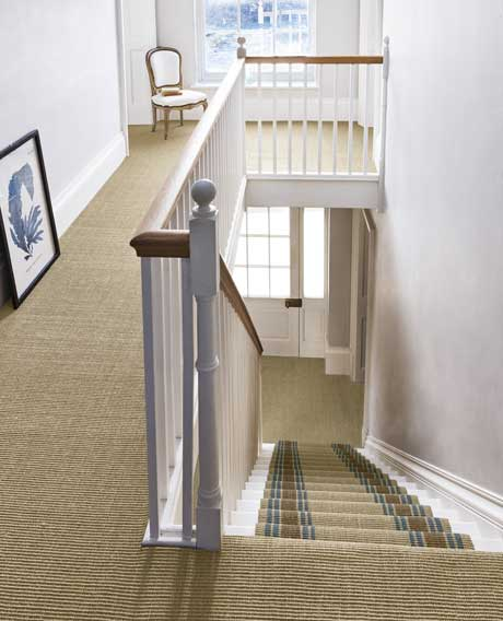 Sisal Mini Boucle Dune and Matching Runner
